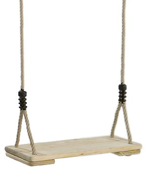 Wooden Swing Seat with adjustable ropes