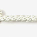 6mm 8-plait white polyester sold by the metre