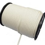 6mm White 8-plait polyester rope sold on a 100m reel