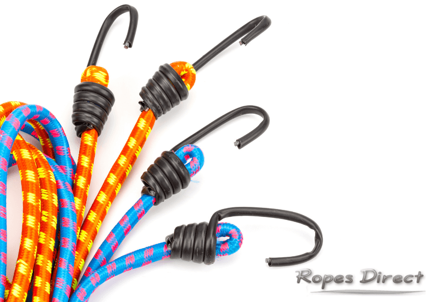 a selection of colourful bungee cords