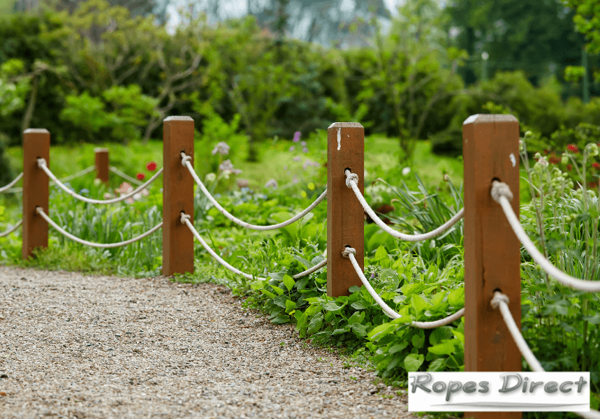 a garden rope fence