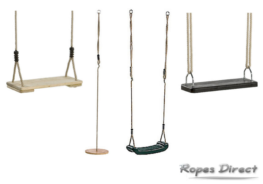 selection of tree swings available at Ropes Direct