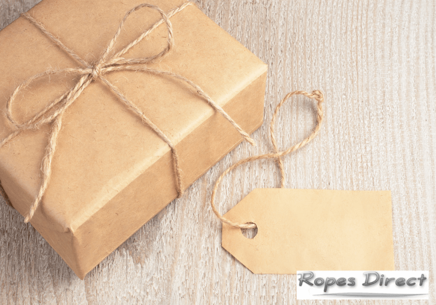gifts tied with jute string