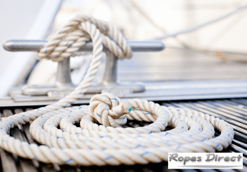 mooring ropes for use on a boat