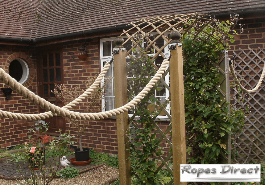 Example of a rope fence made by a customer