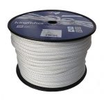 10mm 100m Solid White Polyester Braid on Braid Rope | Ropes Direct