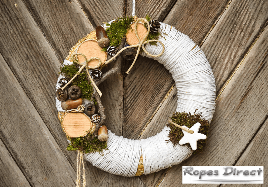 Christmas craft idea using ropes