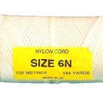 Braided Nylon Cord 2.8mm (6N) x 132m (Natural)