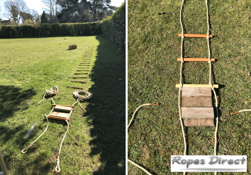photos taken by customer as making a rope ladder