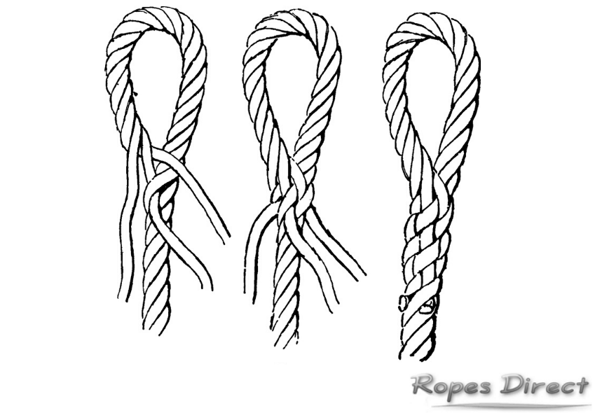 diagram of how to splice a rope