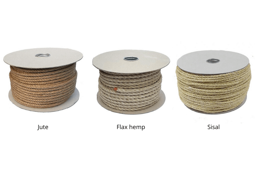 Selection of natural ropes available at Ropes Direct