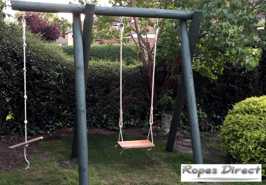 rope swing in home playground