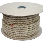 12mm Natural Flax Hemp Rope sold on a 50m reel