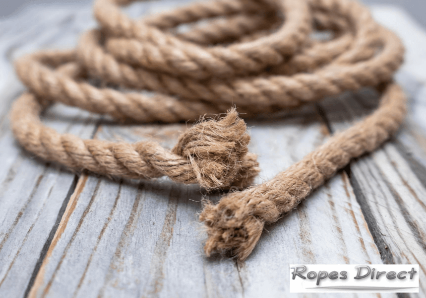 ropes ends that have started to fray