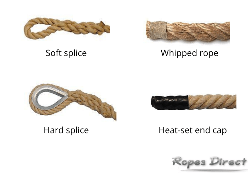 rope end finishes available at Ropes Direct