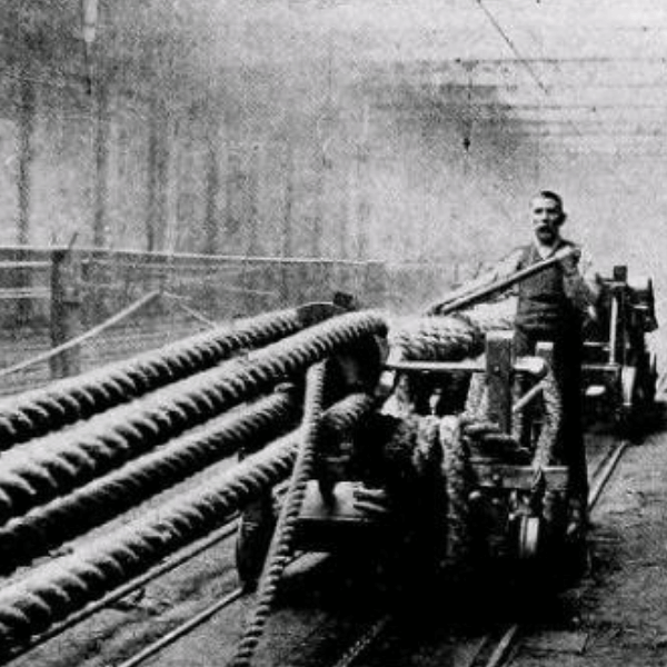 Traditional method of rope manufacture