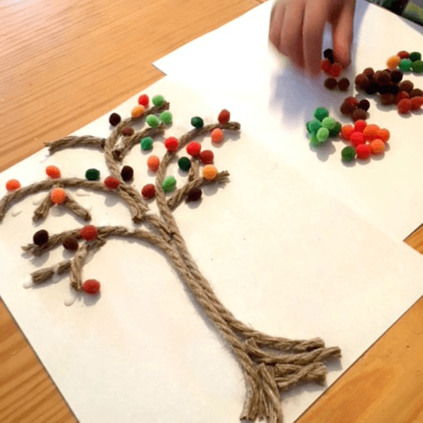 Example of rope craft activity for kids