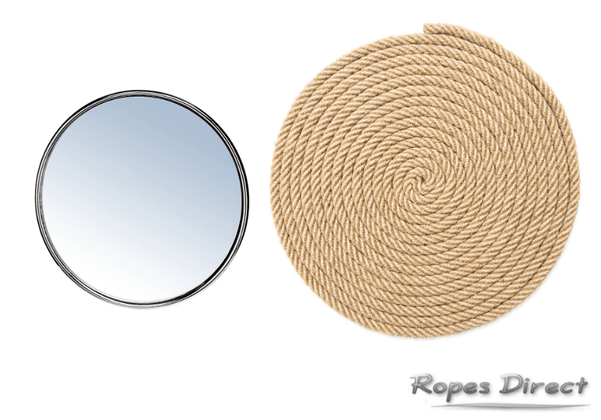 Basic materials required to make a rope mirror