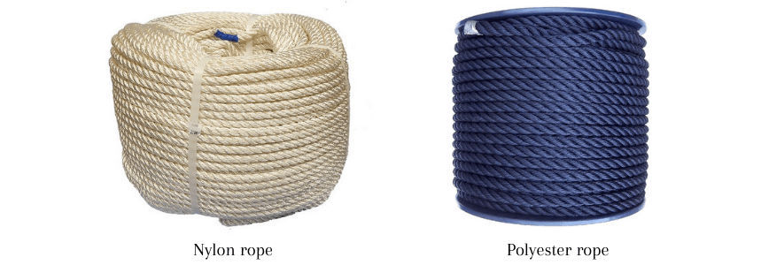 Nylon and polyester rope available at RopesDirect