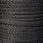 Black Hollow Braid Polyethylene sold by the metre