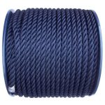Navy Blue Polyester Rope on a 100m reel