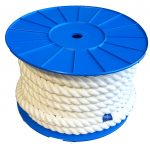 24mm White PolyCotton Barrier Rope - 24m reel