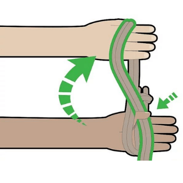 Step 2 for tying rope