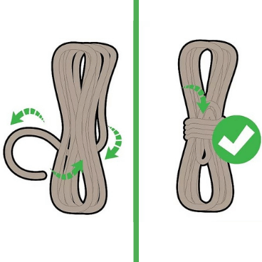 Step 3 for tying rope
