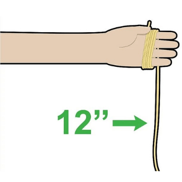 Step 1 for tying rope