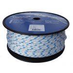 8mm Braid on Braid Blue Fleck Polyester Rope 100m reel