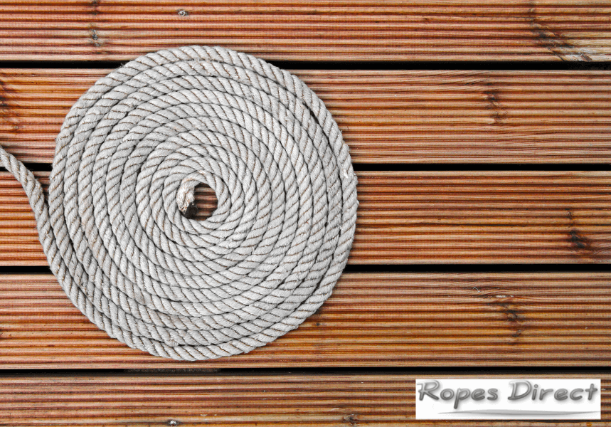 Decking rope for garden decking project