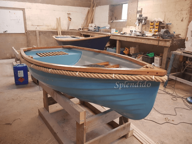 Boat made by Pondlife Workshop using our boat fender rope