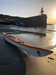 Kayak using RopesDirect yellow polypropylene multicord