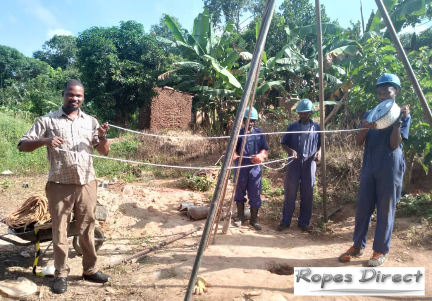 Charity in Uganda using polyester rope from RopesDirect