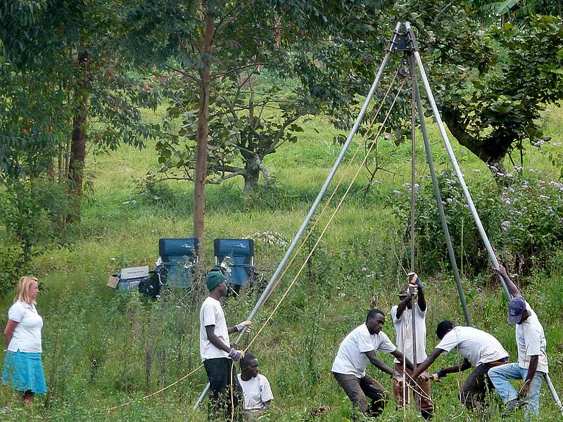 Charity in Uganda using braid on braid polyester rope