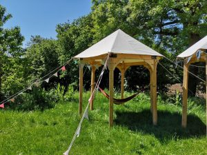 A Roundhouse Woodwork timber-framed tent