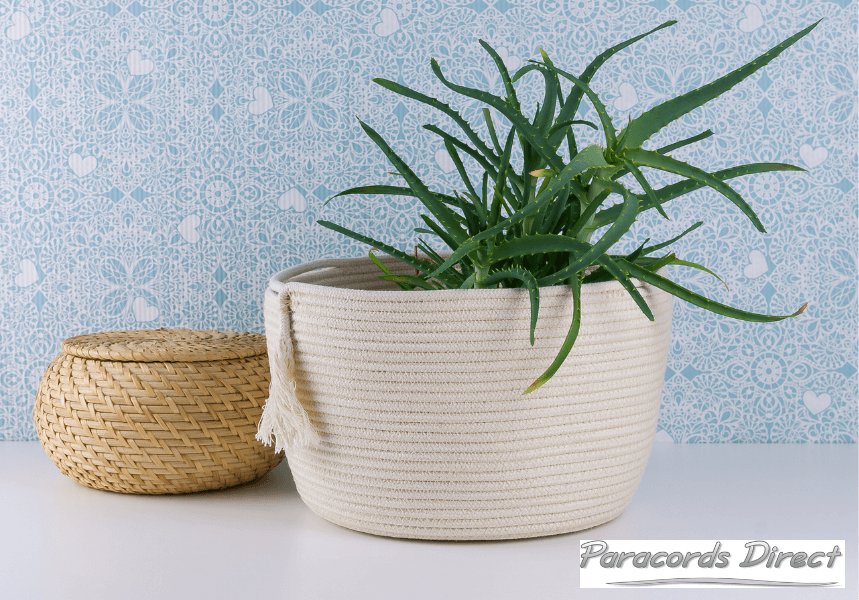 rope basket made from cotton cord