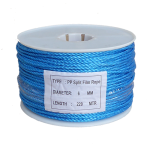 6mm Blue Polypropylene Rope - 220m reel