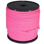 12mm Pink Braided Rope - 100m reel