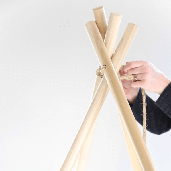 Step 2 how to make a teepee