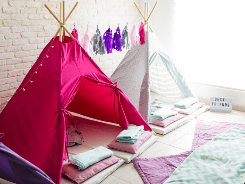Teepee tents made using rope from RopesDirect