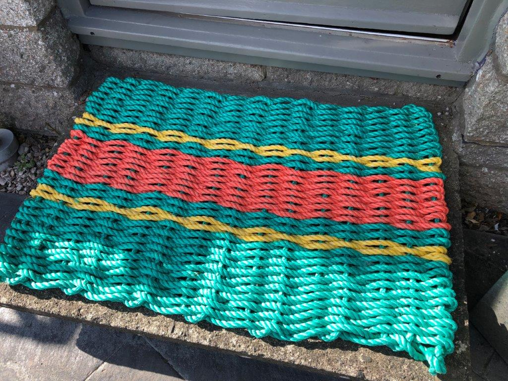 DIY doormat made with our 10mm polypropylene rope