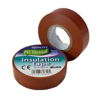 19mm x 20m Brown PVC Electrical Tape