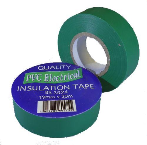 19mm x 20m Green PVC Electrical Tape