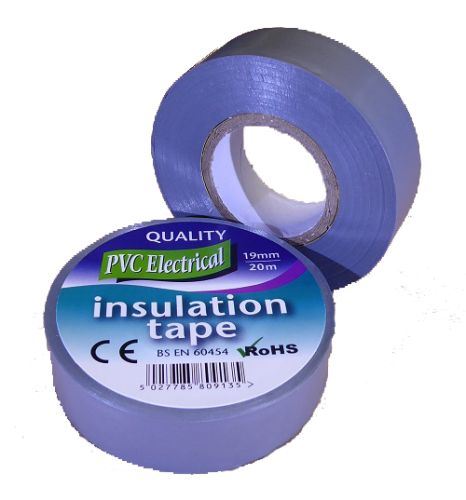 19mm x 20m Grey PVC Electrical Tape