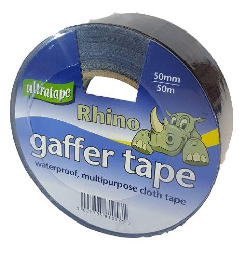 50mm x 50m Black Gaffer Tape