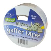 50mm x 50m White Gaffer Tape