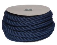 24mm Navy Blue PolyCotton Barrier Rope - 24m reel