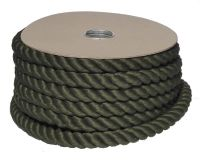 32mm Green PolyCotton Barrier Rope - 24m coil