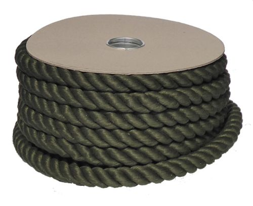 24mm Green PolyCotton Barrier Rope - 24m reel